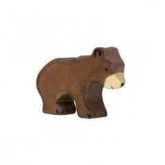 Petit ours brun en bois