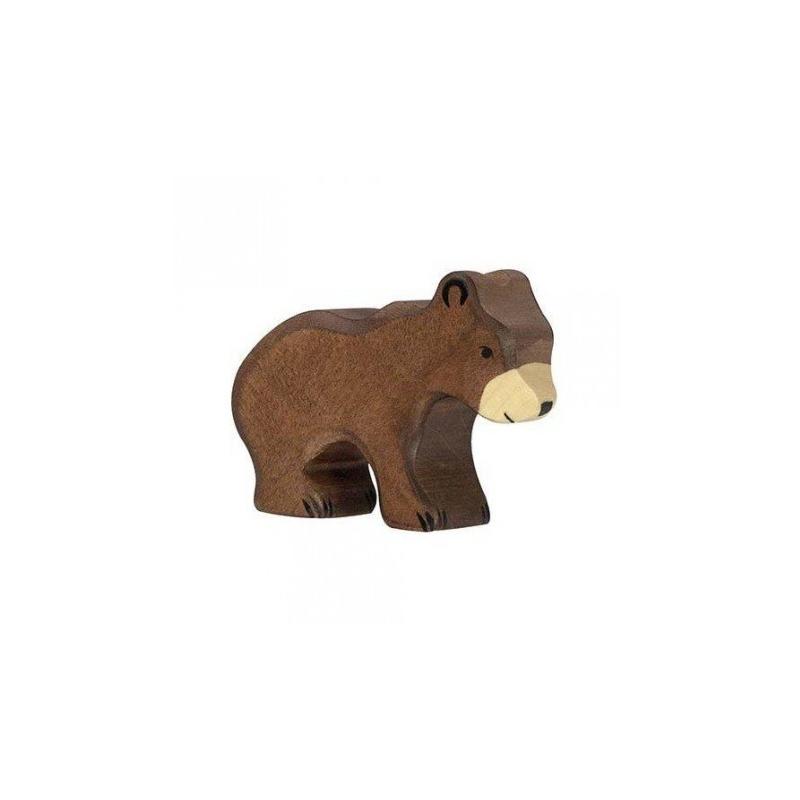 petit ours brun en bois holztiger petit sixi me. Black Bedroom Furniture Sets. Home Design Ideas