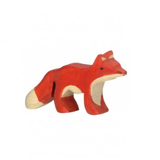Bébé renard en bois