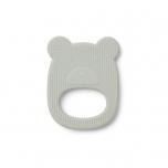 Anneau de dentition silicone - Ours menthe