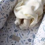 Nid bébé Feuilles - Bleu