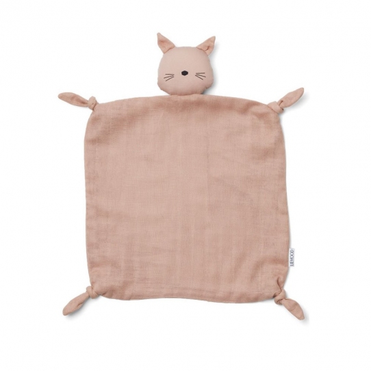 Doudou Lange - Chat rose