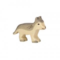 Bébé Loup en bois