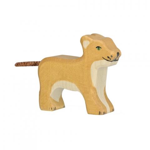 Lionceau en bois