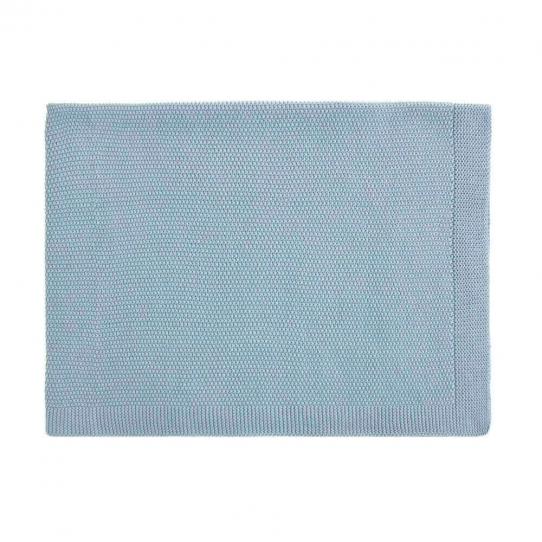 Couverture 100% coton - Bleue