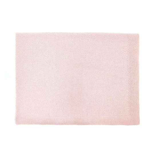 Couverture 100% coton - Rose