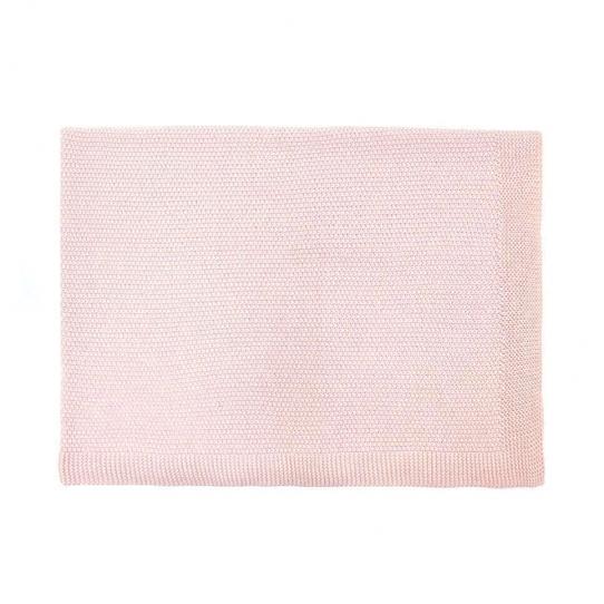 Couverture 100% coton - Rose