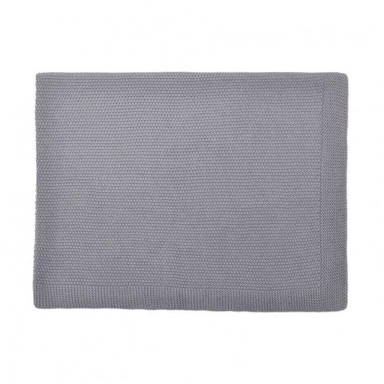 Couverture 100% coton - Grise