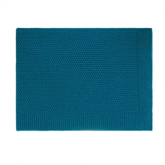 Couverture 100% coton - Bleu Pétrole