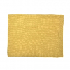 Couverture 100% coton - Jaune