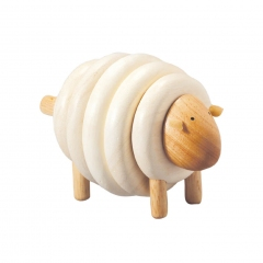 Mouton en bois à enfiler