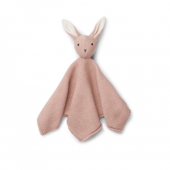 Doudou Lapin Maille - Rose