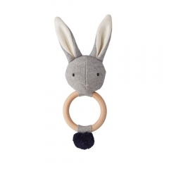Hochet Lapin Maille - Gris