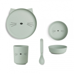 Vaisselle Bambou - Chat menthe