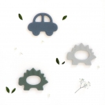 Anneau de dentition silicone - Dinosaure vert