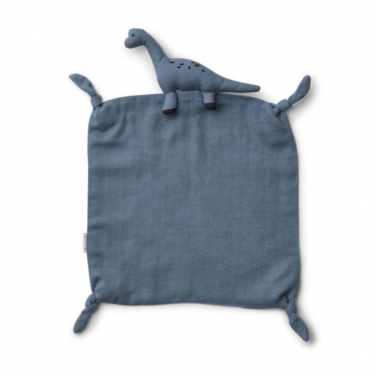 Doudou Lange - Dinosaure bleu