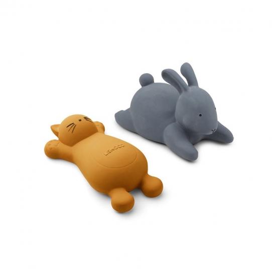 Jouet pour le bain x2 Chat - Moutarde