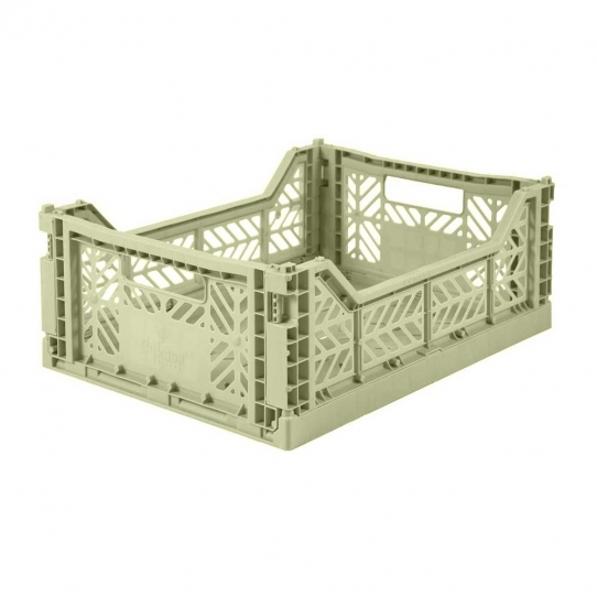Caisse de rangement Medium - Vert amande