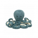 Peluche Pieuvre - Bleu - 14 cm