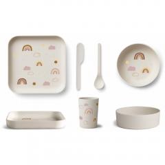 Vaisselle Bambou - Arc-en-ciel