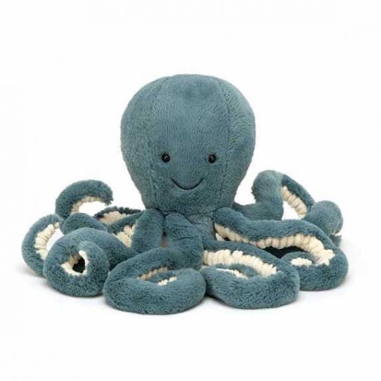 Peluche Pieuvre - Bleu - 23 cm