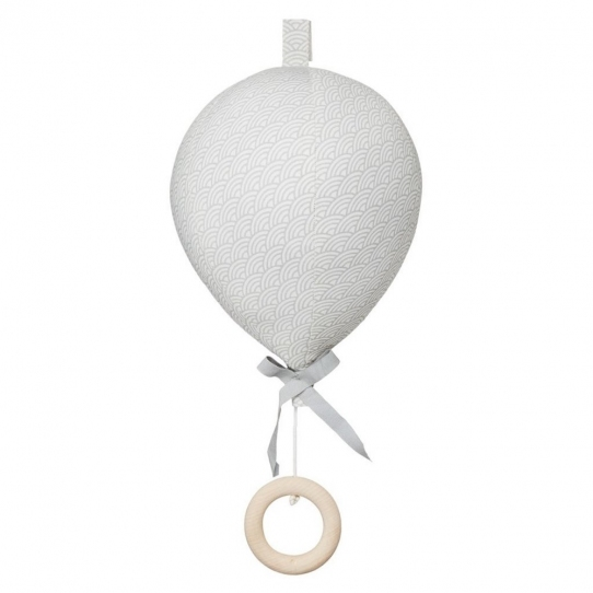 Mobile Musical Ballon Vague - Gris