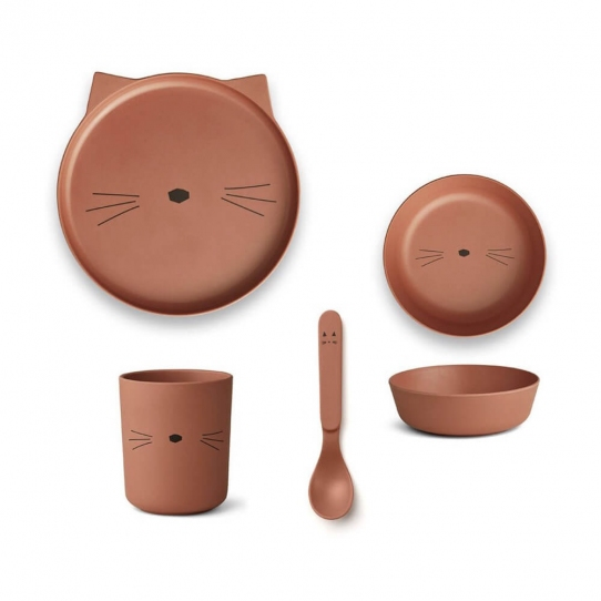 Vaisselle Bambou - Chat ocre