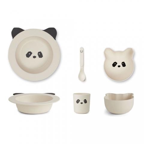 Vaisselle bébé en Bambou - Panda