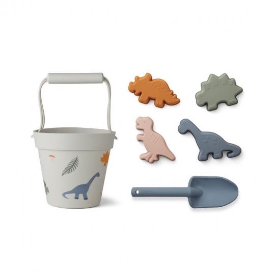 Seau, pelle et moules - Dino