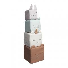 Cubes en tissu - animaux