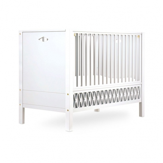 Lit bébé Harlequin 70x140 - Blanc