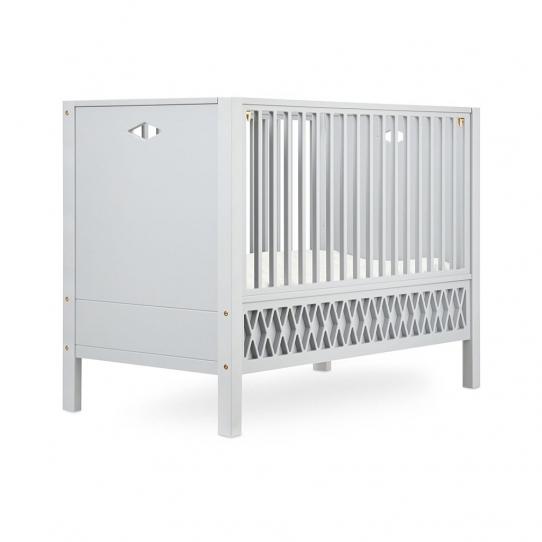 Lit bébé Harlequin 70x140 - Gris