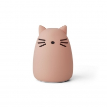Veilleuse chat - rose