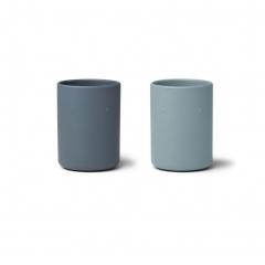 2 Tasses en silicone - Bleu