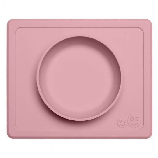 Mini bol antidérapant en silicone - Rose