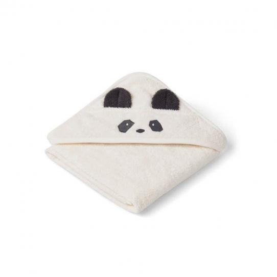 Cape de bain bébé Panda - crème