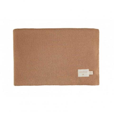 Couverture en tricot - Biscuit