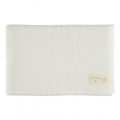 Couverture tricot en coton bio - Milk