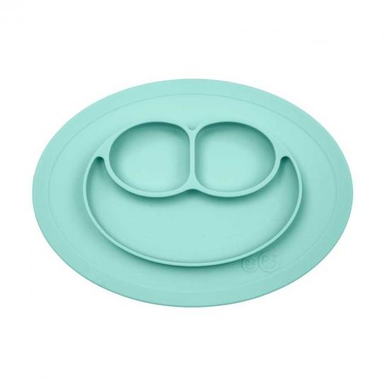 Mini assiette compartimentée antidérapante - Menthe