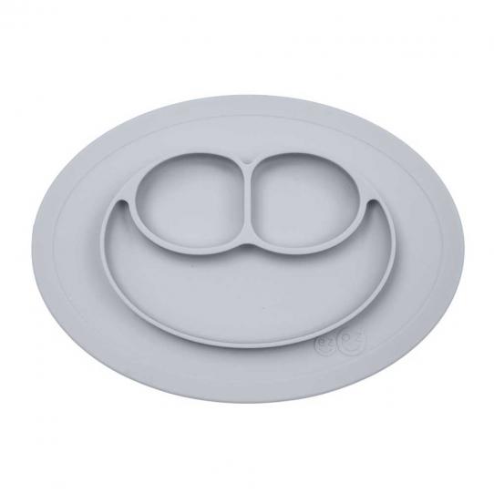 Mini assiette compartimentée antidérapante - Gris étain
