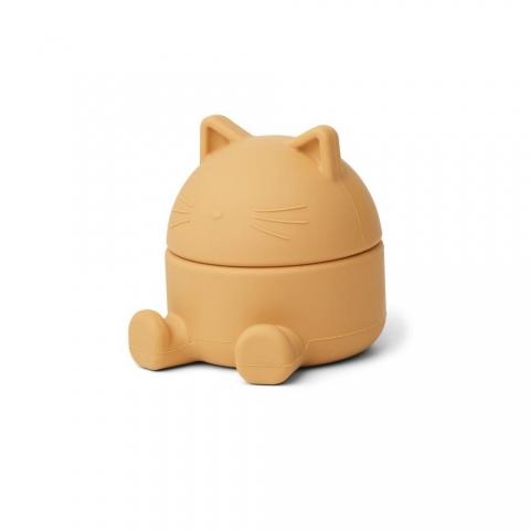 Boite aux trésors chat - moutarde