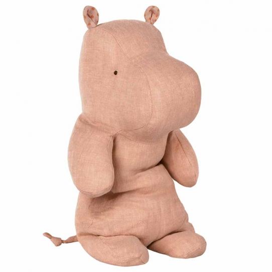 Doudou Hippopotame rose - Médium