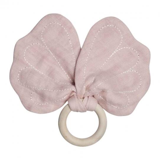 Anneau de dentition Papillon - Pétrole
