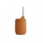 Verre en silicone avec paille - Moutarde