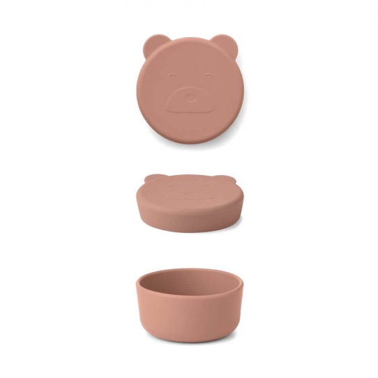 Boite en silicone Carrie - Ours rose