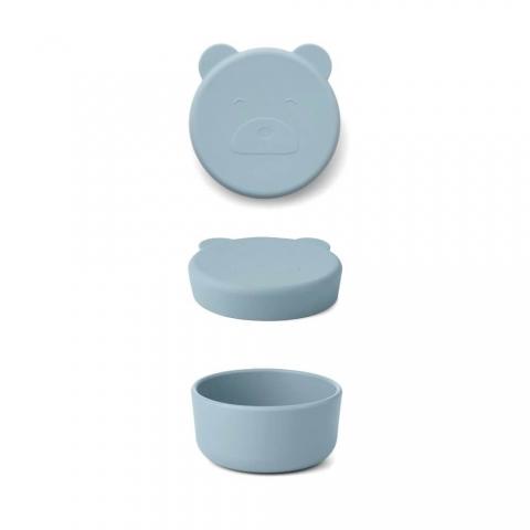 Boîte en silicone Carrie - Ours bleu océan