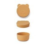 Boite en silicone Carrie - Ours jaune