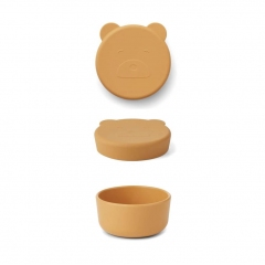 Boîte en silicone Carrie 8,3 cm - Ours jaune