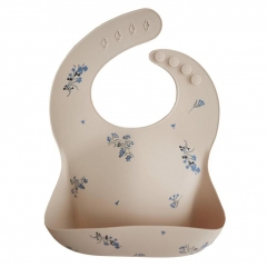 Bavoir silicone - Lilac flowers