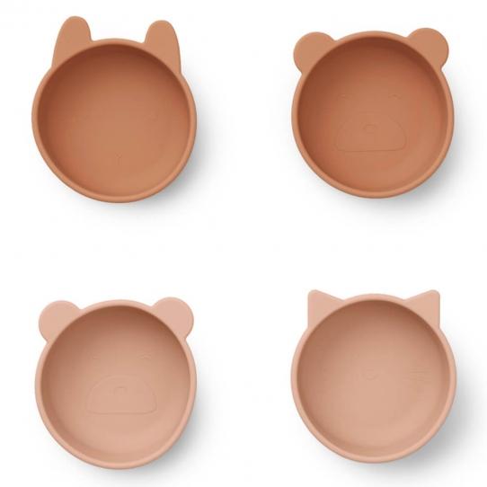 Set de 4 bols en silicone - Toscany Rose